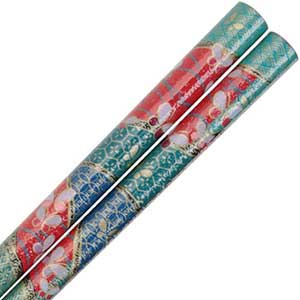 Butterflies on Red Floral Japanese Style Chopsticks