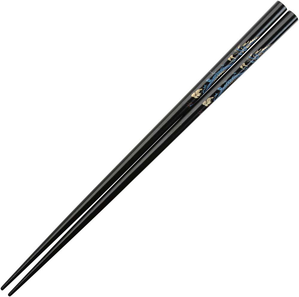 Dragon on Black Japanese Style Chopsticks
