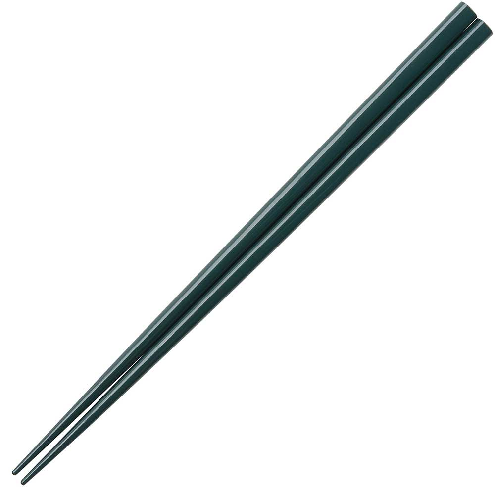 Forest Green Glossy Painted Japanese Style Chopsticks