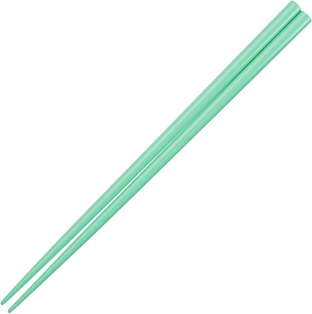 Green Mint Glossy Painted Japanese Style Chopsticks