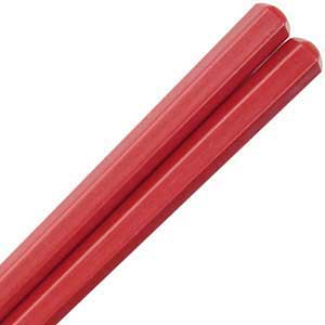 Plastic Eco Red Hex Dishwasher Safe Japanese Chopsticks
