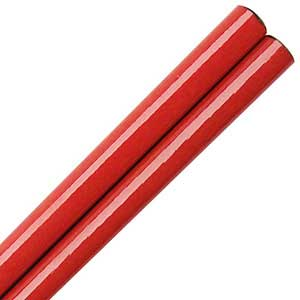 Red Glossy Painted Japanese Style Chopsticks